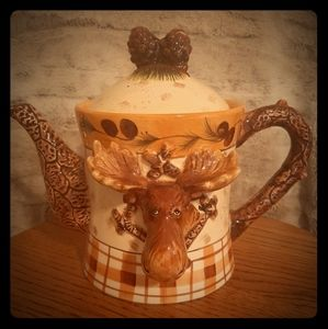 Charming Moose Teapot